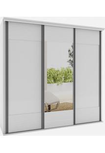 Armario Los Angeles 3 Portas 2,40M C/Espelho Branco - 24568 - Sun House