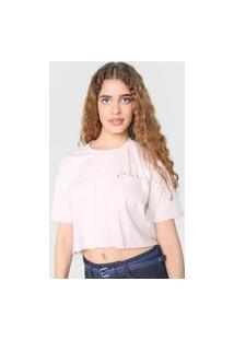 Camiseta Cropped Tricats Desert Rosa