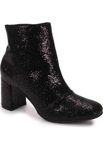 Ankle Boots Feminina Lara - Preto