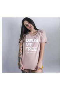 Camiseta Feminina Deus Me Free Anjuss