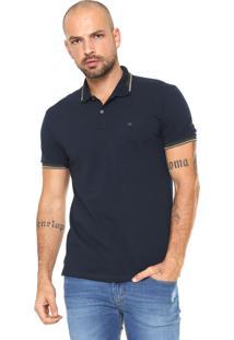 ... Camisa Polo Calvin Klein Slim Azul-Marinho b55bd7c942dae