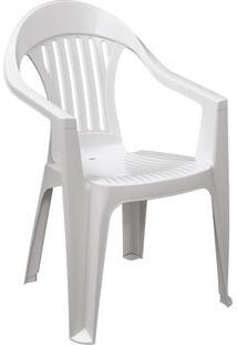 Poltrona Cadeira Plástica Imbé Para Jardim Tramontina
