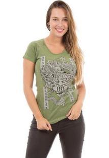 Camiseta Aes 1975 Dragon Ii Feminina - Feminino-Verde