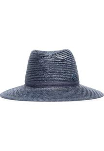 Maison Michel Blue Straw Weave Hat - Azul
