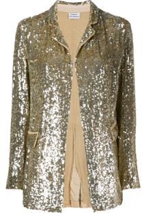 P.A.R.O.S.H. Blazer Com Abotoamento - Dourado