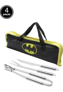 Kit 3Pçs Churrasco Batman Preto 40X38X33Cm Urban
