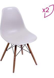 Jogo De Cadeiras Com 4 Pã©S- Bege- 2Pã§S- Or Desigor Design