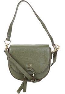 Bolsa Couro Jorge Bischoff Mini Bag Feminina - Feminino-Verde Militar