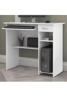 Mesa Para Computador Viena 1 Gaveta Branco - Ej Móveis