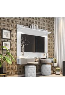 Painel Para Tv Até 55 Polegadas Espelho E Led Moscou Siena Móveis Branco
