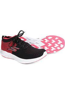 Tênis Skechers Go Run 6 Feminino - Feminino-Preto+Pink