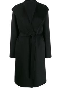 Joseph Trench Coat Com Cinto - Preto