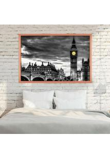 Quadro Love Decor Com Moldura London Rose Metalizado Grande