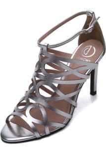 Sandália Dumond Metalizada Prata