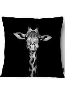 Capa Para Almofada Silk Home Industrial Girafa 43X43Cm - Belchior - Preto