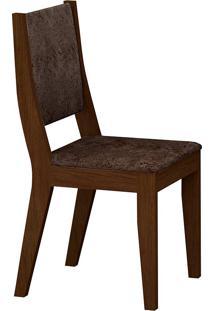 Cadeira Isis Suede Amassado - Rufato - Castor / Chocolate