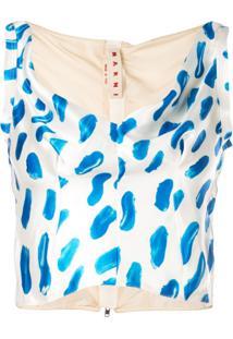 Marni Blusa Estampada - Branco