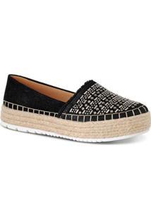 Alpagarta Com Aplicações Prime Shoes Feminina - Feminino-Preto