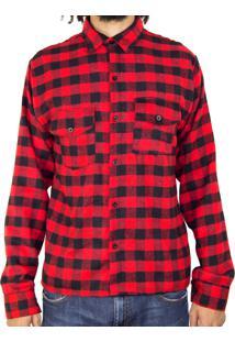 Camisa Andy Roll Clothing Xadrez Woodcutter Vermelha