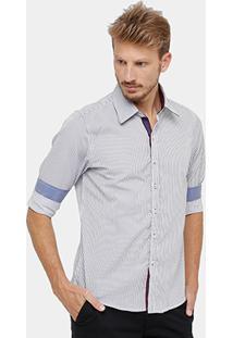 Camisa Bluebay Listras Vira Masculina - Masculino