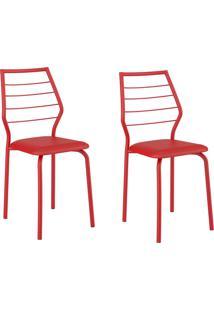 Kit 2 Cadeiras 1716 Vermelho - Carraro Móveis
