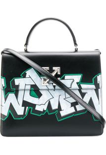 Off-White Bolsa Transversal Com Estampa Arrow - Preto