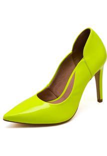 Scarpin Hendy Bag Neon Amarelo
