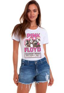 Camiseta Basica Joss Pink Floyd Branca