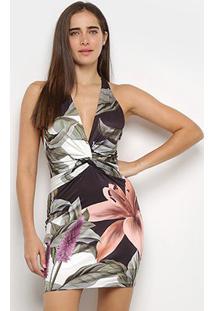 Vestido Lança Perfume Estampado Frente Única - Feminino-Floral