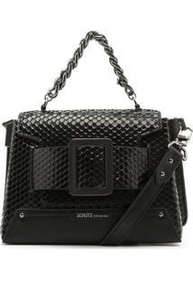 Bolsa Maxi Fivela Bright Snake Black | Schutz