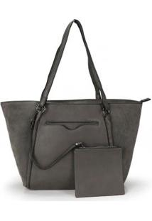 Bolsa Shopping Bag Madame Marie Cinza