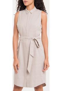 Vestido Chemise Nilo Calvin Klein - Caqui Claro - 36