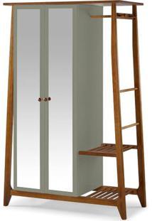 Armario Multiuso Stoka 2 Portas Cinza Estrutura Amendoa 169Cm - 60964 - Sun House