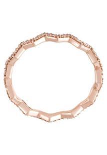 Astley Clarke Anel 'Varro Honeycomb' De Ouro Rosa 14K - Metálico