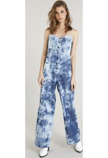 c594b8574 CEA. Macacão Azul Feminino Algodão Jeans ...