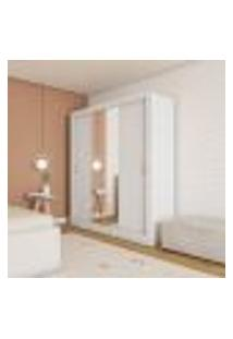 Guarda-Roupa Casal Com Espelho Itacaré 3 Pt 4 Gv Branco