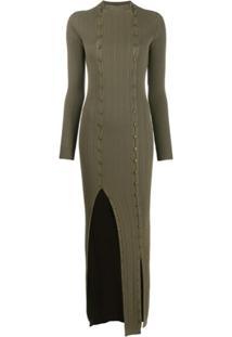 Jacquemus Vestido La Robe Maille Azur - Verde