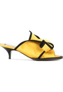 Nº21 Sandália Com Laço Contrastante - Amarelo