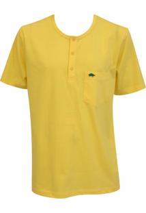 Camiseta Pau A Pique Botões - Masculino
