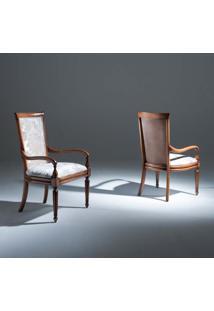 Cadeira Beirute Com Braço Madeira Maciça Design Clássico Avi Móveis