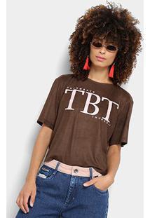 Camiseta My Favorite Thing (S) Básica Feminina - Feminino-Marrom