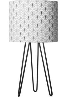 Abajur Carambola Scale Preto E Branco - Preto - Dafiti