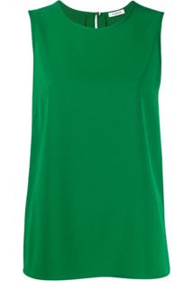 P.A.R.O.S.H. Back Slit Blouse - Verde
