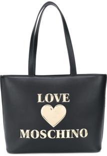 Love Moschino Logo Tote Bag - Preto