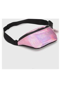 Pochete Adidas Originals Holográfica Rosa