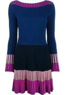 Pinko Vestido Com Detalhe Contrastante - Azul