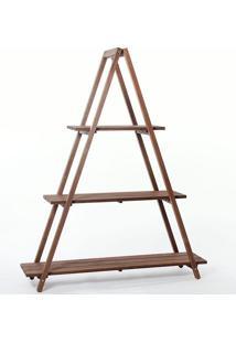 Estante Escada Aquiles Stain - Mão E Formão - Nogueira