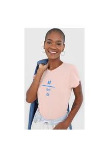 Camiseta Cantão Ar Leve Rosa