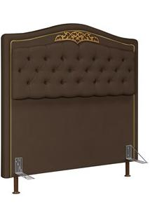 Cabeceira Cama Box Casal Queen 160Cm Imperial J02 Suede Chocolate - Mp