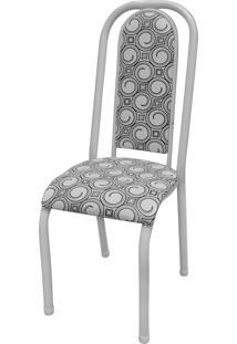 Cadeira Roma Almofadada Branco/Espiral Açomix